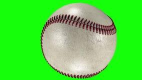 3D animacja klasyczna baseball piłka krzyżuje przejrzystego tło royalty ilustracja
