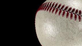 3D animacja, płodozmienna baseball piłka w prawej stronie ekran ilustracji