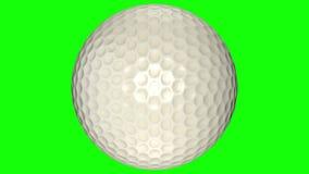 3D animacja, piłki golfowej kręcenie w środku przejrzysty tło ilustracji