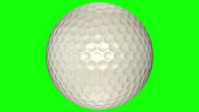 3D animacja, piłki golfowej przędzalnictwo w środku przejrzysty tło ilustracja wektor