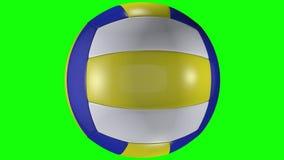 3D animacja, siatkówki balowy wirować na ekranu chroma klucza tle ilustracji