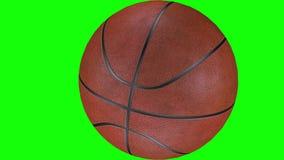 3D animacja textured koszyk?wki balowy ko?ysanie si? w zwolnionym tempie ilustracji