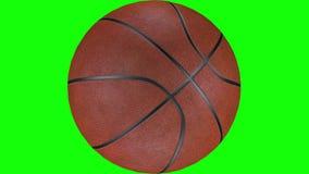 3D animacja textured koszykówki balowy wirować w zwolnionym tempie ilustracja wektor
