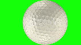 3D animacja wiruje przez przejrzystego tło piłka golfowa royalty ilustracja
