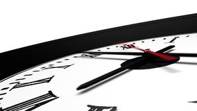 3D Animated Clock stock video footage