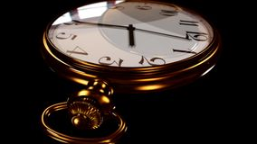 3D Animated Pocket Watch Timelapse stock video