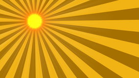 2D animated sun rays stock footage