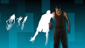 3D animatie die basketbal tonen vector illustratie