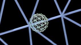 3D animatie Netwerk roterend gebied vector illustratie