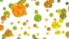 3D animatie Roterende kleine gekleurde ballen vector illustratie