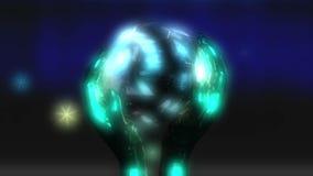 3D Animatie van Crystal Ball stock illustratie