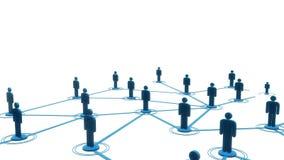 3d animatie van de netwerk de toenemende lijn