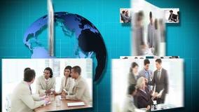 3D Animatie van verscheidene Businessmeetings stock video