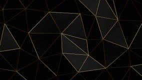 Geometric dark background with golden folds