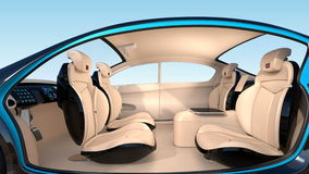 3D animation of autonomous car interior concept