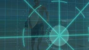 3D Animation on Beach Sports stock video