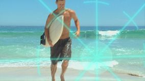 3D Animation on Beach Vacations stock footage