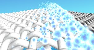 3D animation. Cleaning and whitening action of washing powder.