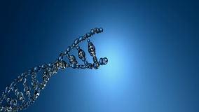 3D animation of DNA strands. On the blue background stock footage