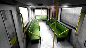 3d animation, empty metro train. stock video