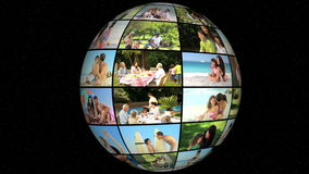 3D Animation on Family Vacation stock video footage