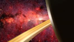 3D Animation Flyby of the Ringed Planet Saturn