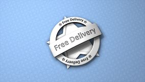 3d animation, Free delivery badge. stock video