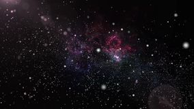 3D animation of galaxy and nebula with shining star light and stardust universe background. 3D animation of galaxy and nebula with shining star light and stock video