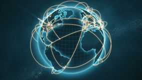 Global network - blue and orange version royalty free illustration