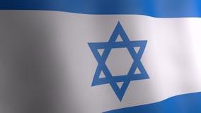 3d animation of Israel flag. stock footage