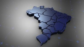 3D Brazil - Metal. 3D animation map for infographic royalty free illustration