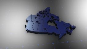 3D Canada - Metal. 3D animation map for infographic royalty free illustration