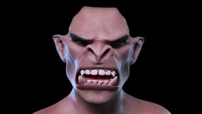 3D Animation of a morphing male Face stock footage