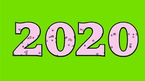 2020 New Year 2D Animation royalty free illustration