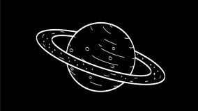 Planet Saturn Drawing 2D Animation