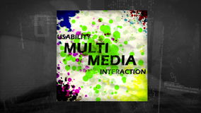 3D Animation of Multimedia stock footage