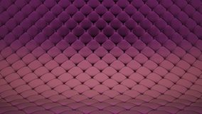 3D animation of pale pink quilted surface with purple shiny straps. Realistic animation of high quality. Looped video. 3D animation of pale pink quilted surface stock footage