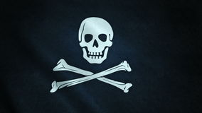 3d animation of pirate flag closeup vector illustration