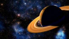 3D Animation of the Planet Saturn