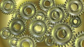 3D Animation of rotating Gears stock video footage
