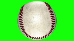 3D animation, roulement de boule de base-ball au milieu du fond transparent illustration stock