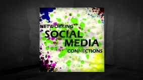 3D Animation of Social Networking Concepts Royalty Free Stock Image