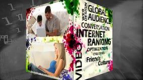 3D Animation of Socialmedia stock video