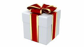 3D animation of the stylish gift box stock video footage