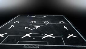 3d animation of tactics and strategy scheme of soccer stock footage