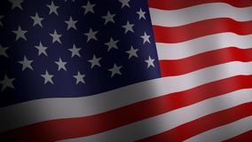 3d animation of United States flag. stock video