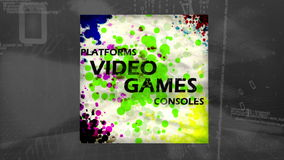 3D Animation of Videogames stock footage