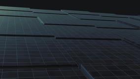 3D animazione - fondo astratto dei cubi neri con il movimento dell'onda Superficie astratta dei cubi commoventi Buio a caso illustrazione di stock