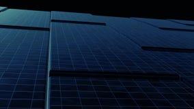 3D animazione - fondo astratto dei cubi neri con il movimento dell'onda Superficie astratta dei cubi commoventi Buio a caso royalty illustrazione gratis