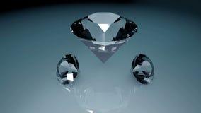 3d animou a rotação das gemas ilustração stock